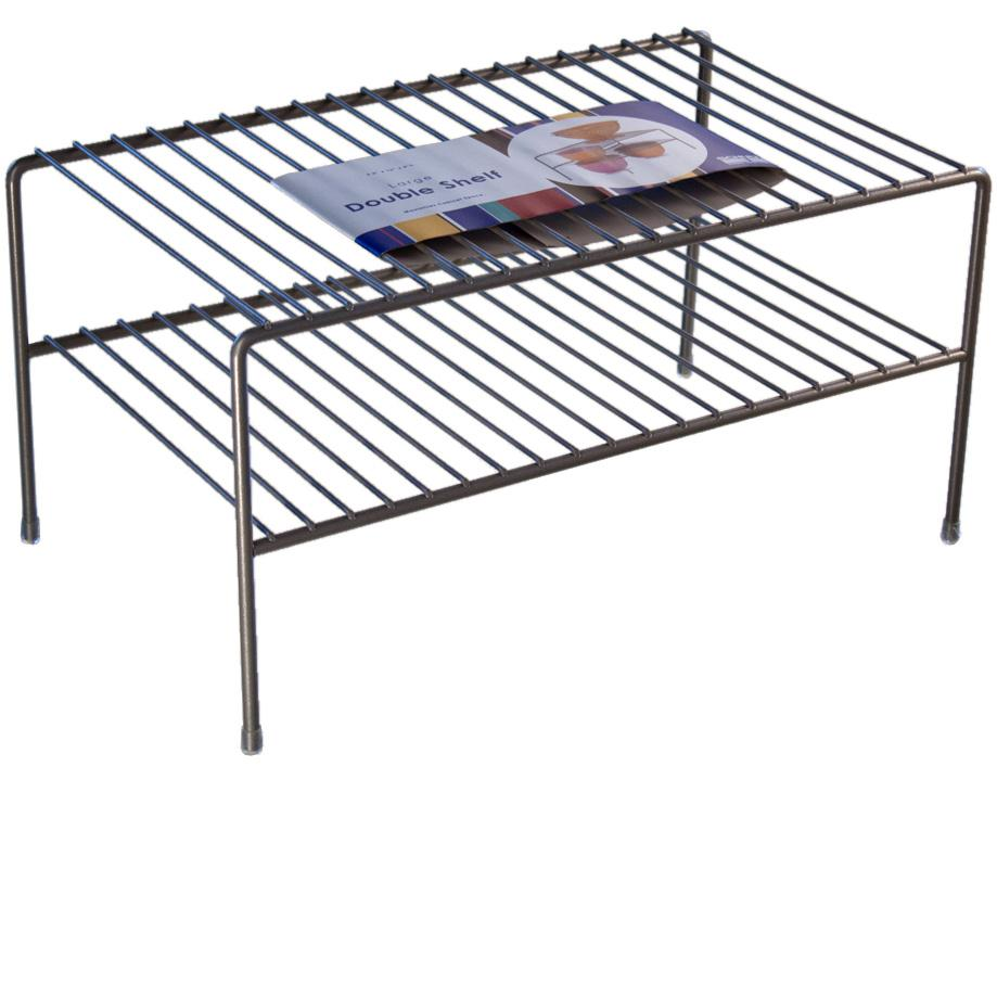 Amazon.com: Organized Living Large Double Cabinet Shelf - Nickel ...