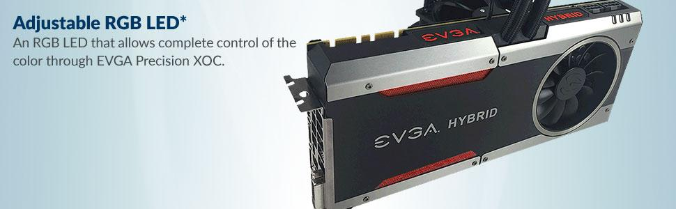 EVGA GeForce GTX 1080 FTW HYBRID GAMING, 8GB GDDR5X, RGB LED, All-In-One  Watercooling with 10CM FAN, 10 Power Phases, Double BIOS, DX12 OSD Support