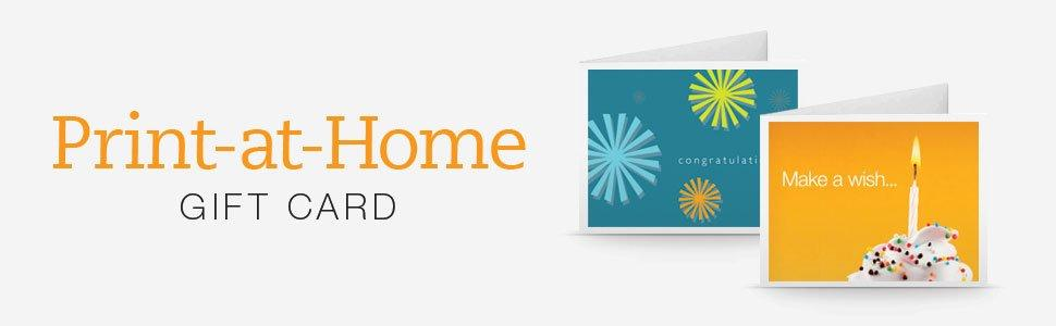 Amazon.com Print at Home Gift Cards