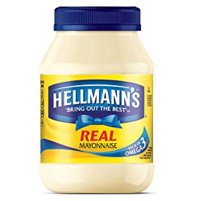 Hellmann's Real Mayonnaise, spread, sandwich, cage free eggs, condiment, omega 3