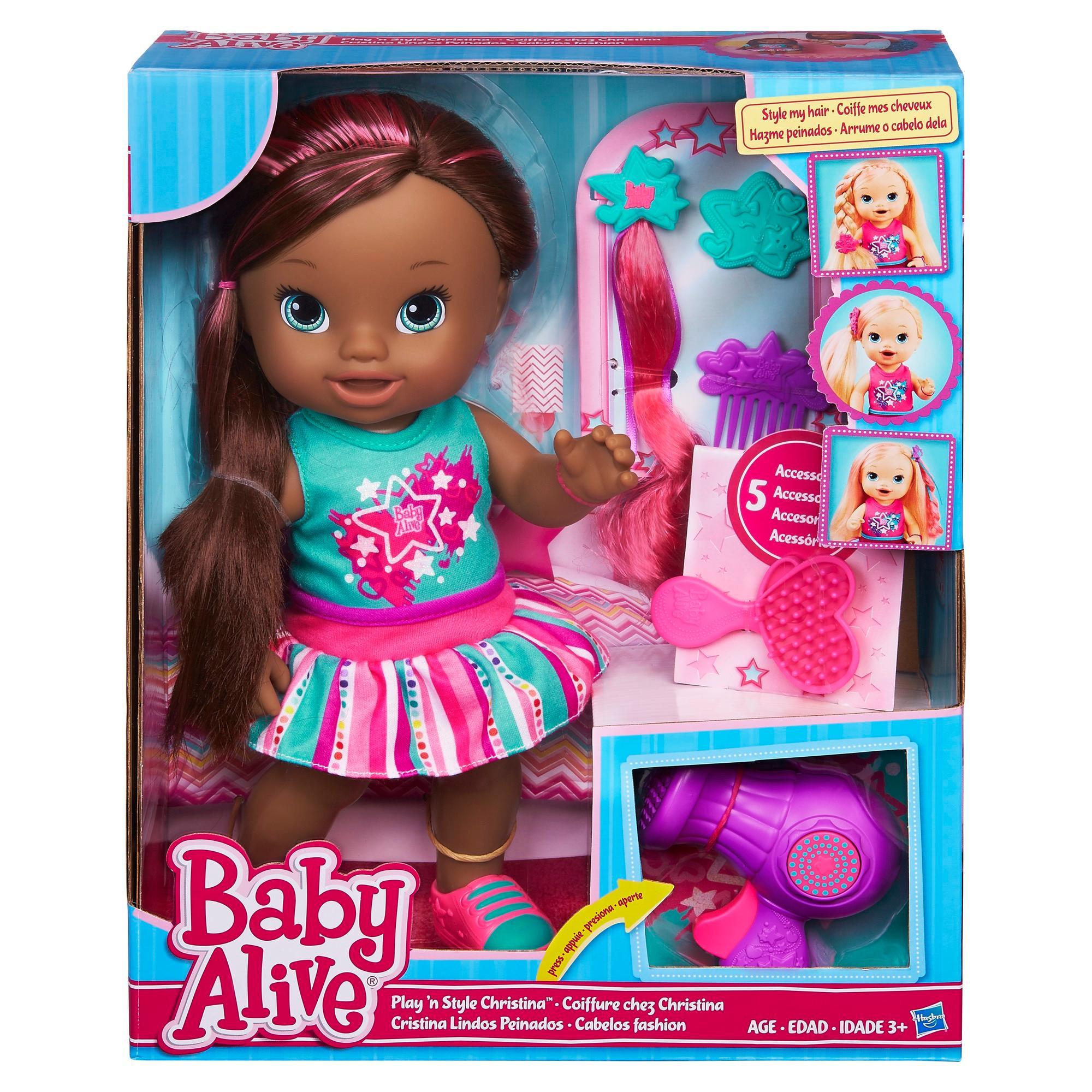 Amazon Com Baby Alive Play N Style Christina Doll