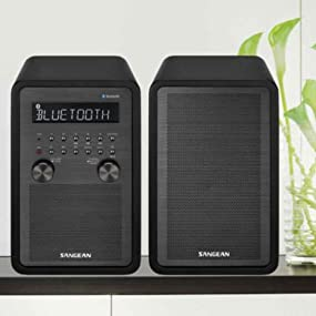 Exceptionnel Sangean WR 50P FM RBDS/AM/Bluetooth Wood Cabinet Digital Radio System