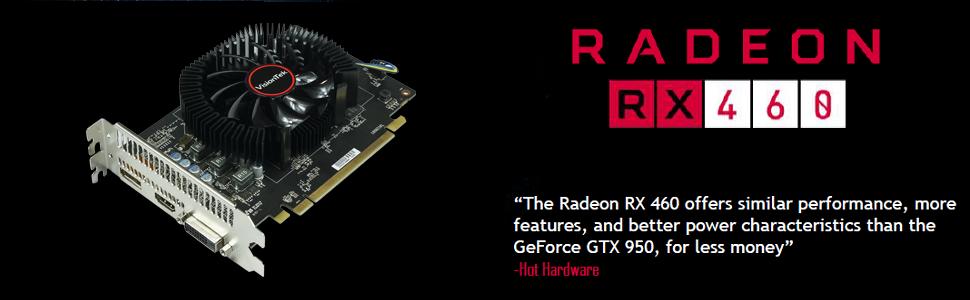 Amazon.com: VisionTek Radeon RX 460 4 GB GDDR5 3 m (DP, HDMI ...