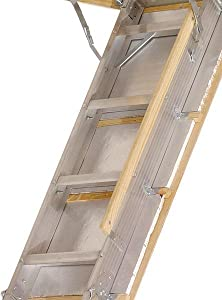 Louisville Ladder Aa229gs Elite Aluminum Attic Ladder 350