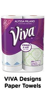 Viva Designs paper towels by Alyssa Milano
