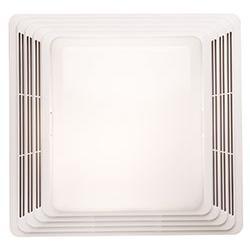 BROAN 678 Fan/Light, White Plastic Grille, 50-CFM