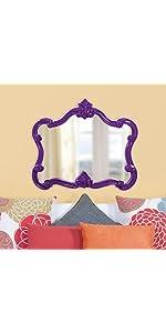 Howard Elliott Veruca Mirror in Glossy Purple Lacquer