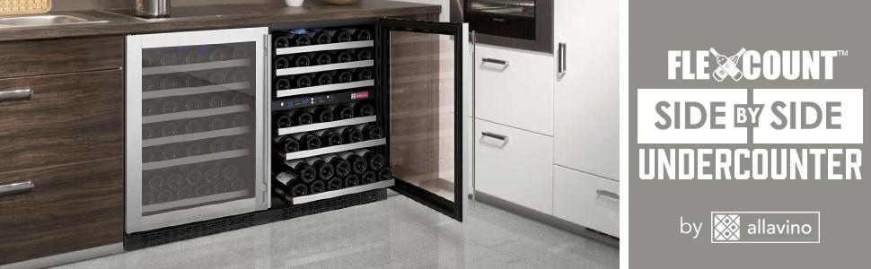 allavino flexcounter series sidebyside wine cooler - Under Counter Wine Cooler