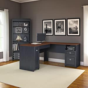 Bush Furniture, Fairview, small office, home office, office storage, open storage, closed storage,