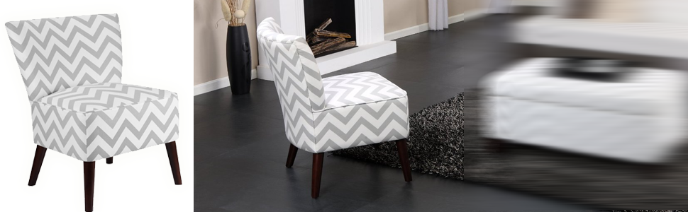 Wonderful Chevron Pattern, Comfortable, Compact Accent Chair