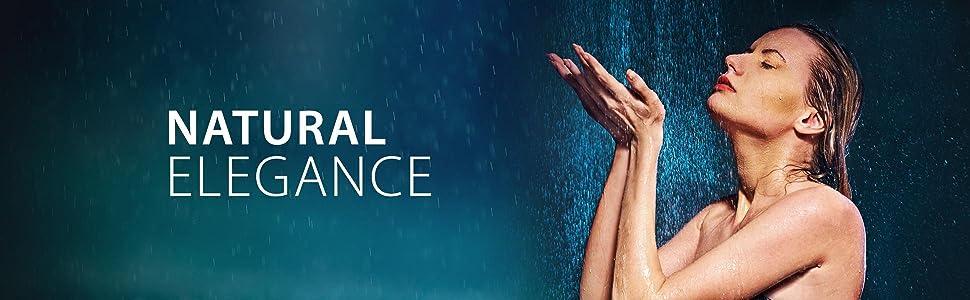 rainfall, shower panel, shower tower, overhead, bathroom, amazon, 9821, blue ocean, best shower