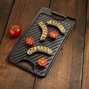 Calphalon Pre-Seasoned Cast Iron Reversible Grill and Griddle - Pre Seasoned