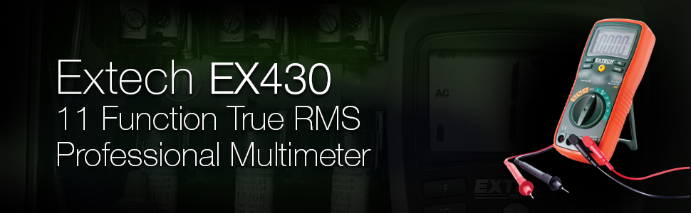 Extech, EX430, Extech EX430, true RMS, multimeter, RMS multimeter, autoranging