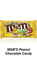 Grab a singles pack of M&M'S Peanut Candies for a little chocolate treat.