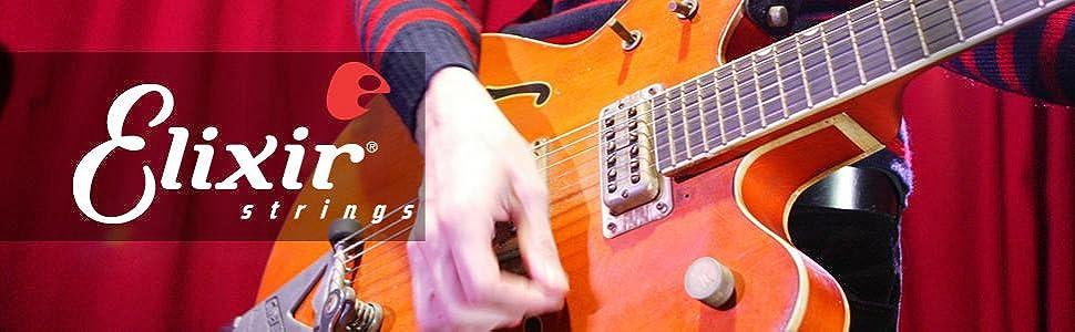 Elixir strings, elixir guitar strings, electric guitar strings, guitar strings online, string gauges