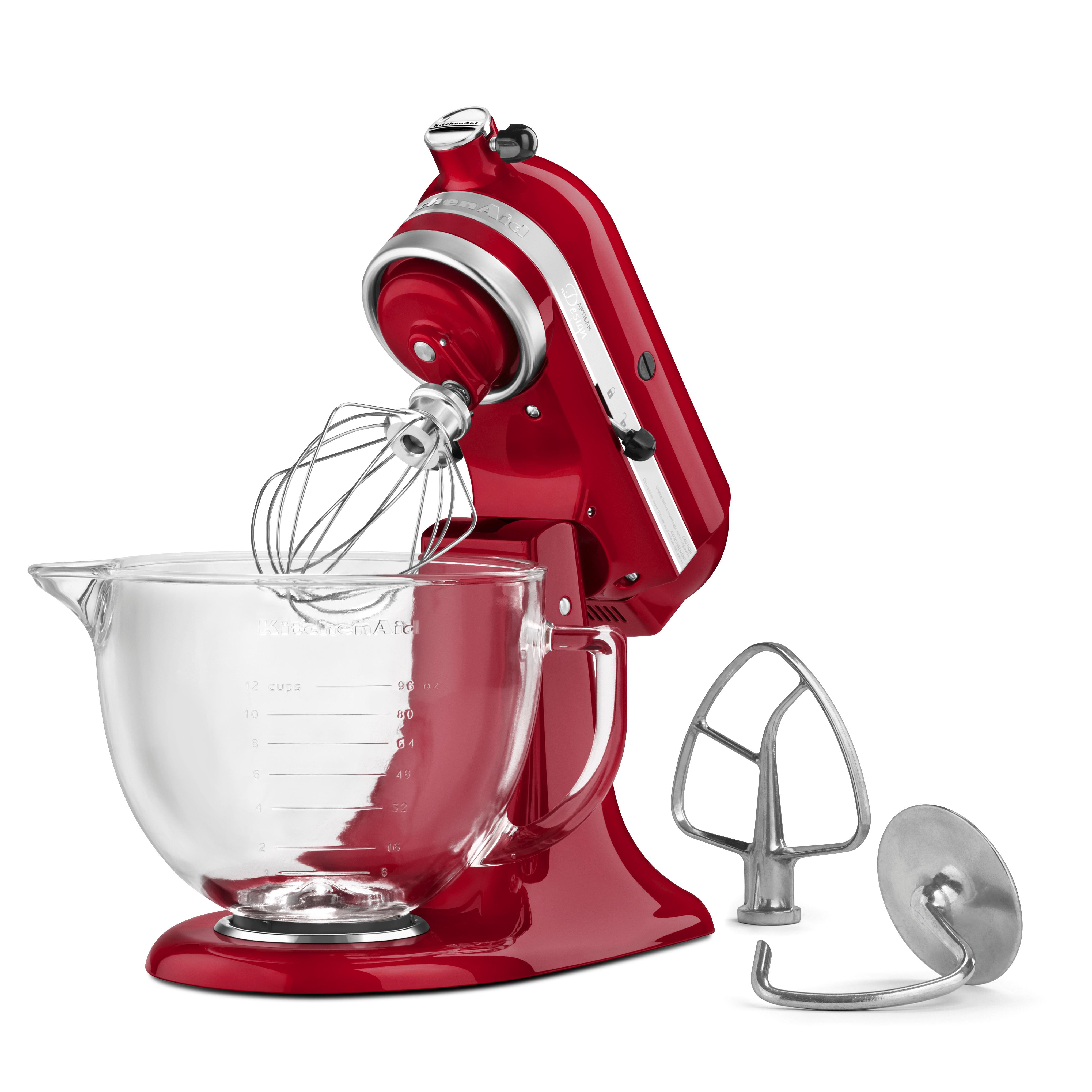 Kitchenaid 5 Quart Tilt Head Model Series Stand Mixer With Glass Bowl Silver
