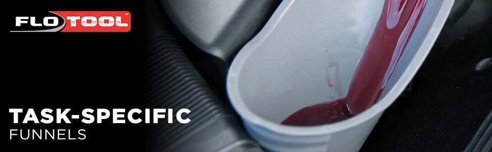 oil; fluid; engine; funnel; fluid transfer; fluid management; engine management; oil management