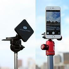 Mountek nGroove SNAP 3 cd slot car mount holder for Galaxy S6 Edge Tripod Selfie Stick Adapter