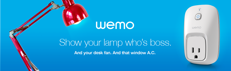 Wemo Banner image show your appliances who's the boss