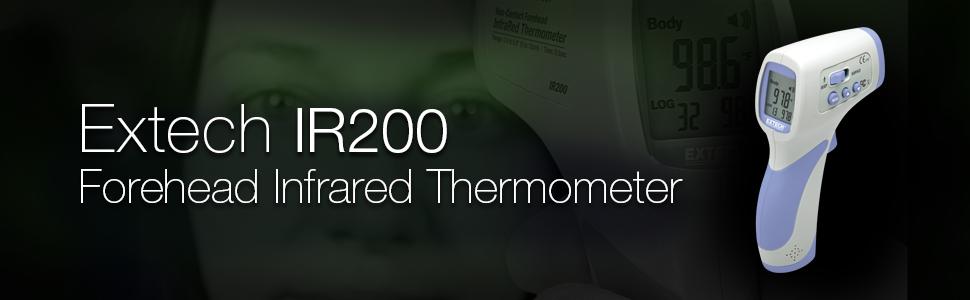 Extech, IR200, Extech IR200, IR thermometer, forehead thermometer