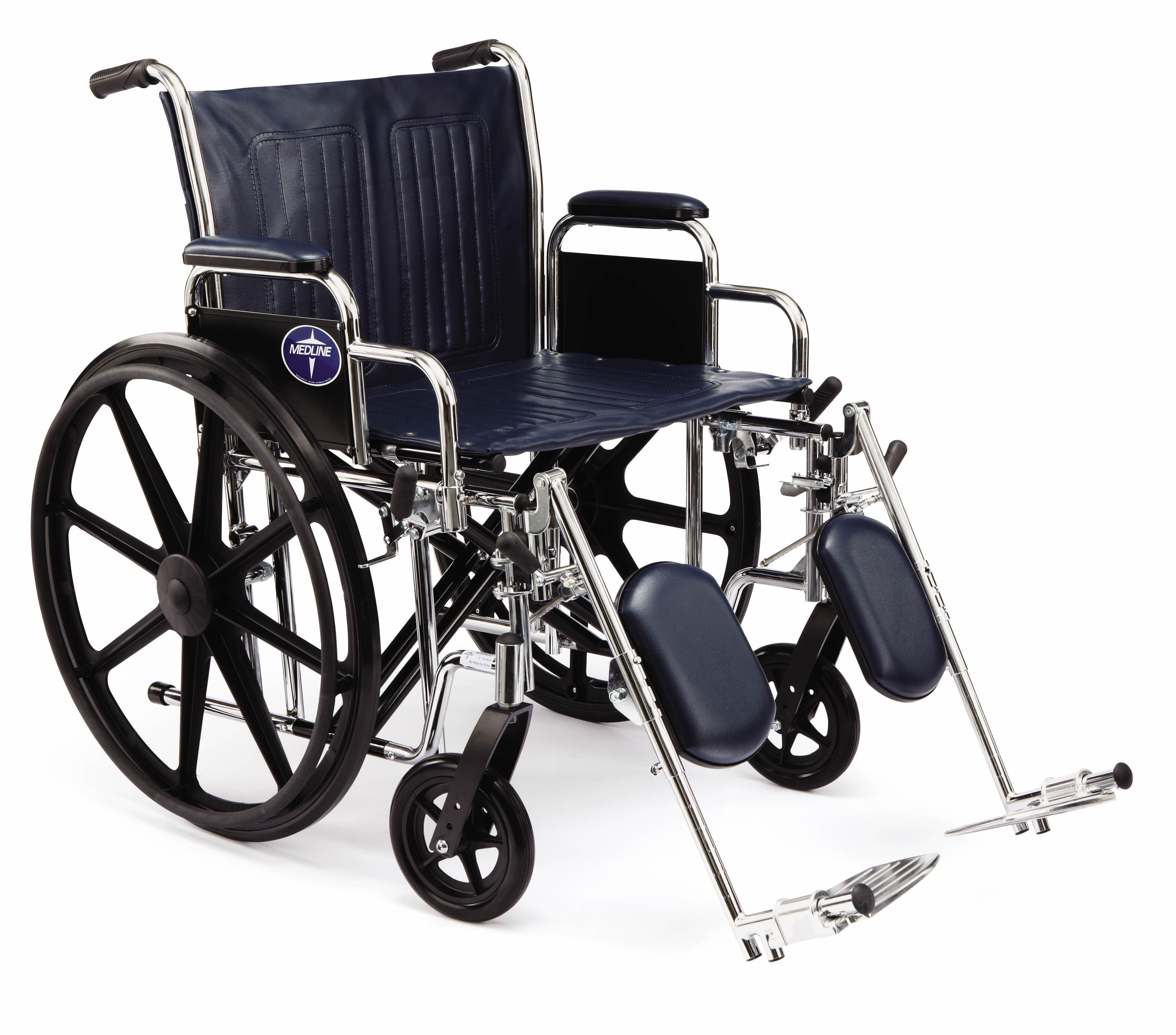"Amazon Medline Excel Extra Wide Wheelchair 22"" Wide Seat"