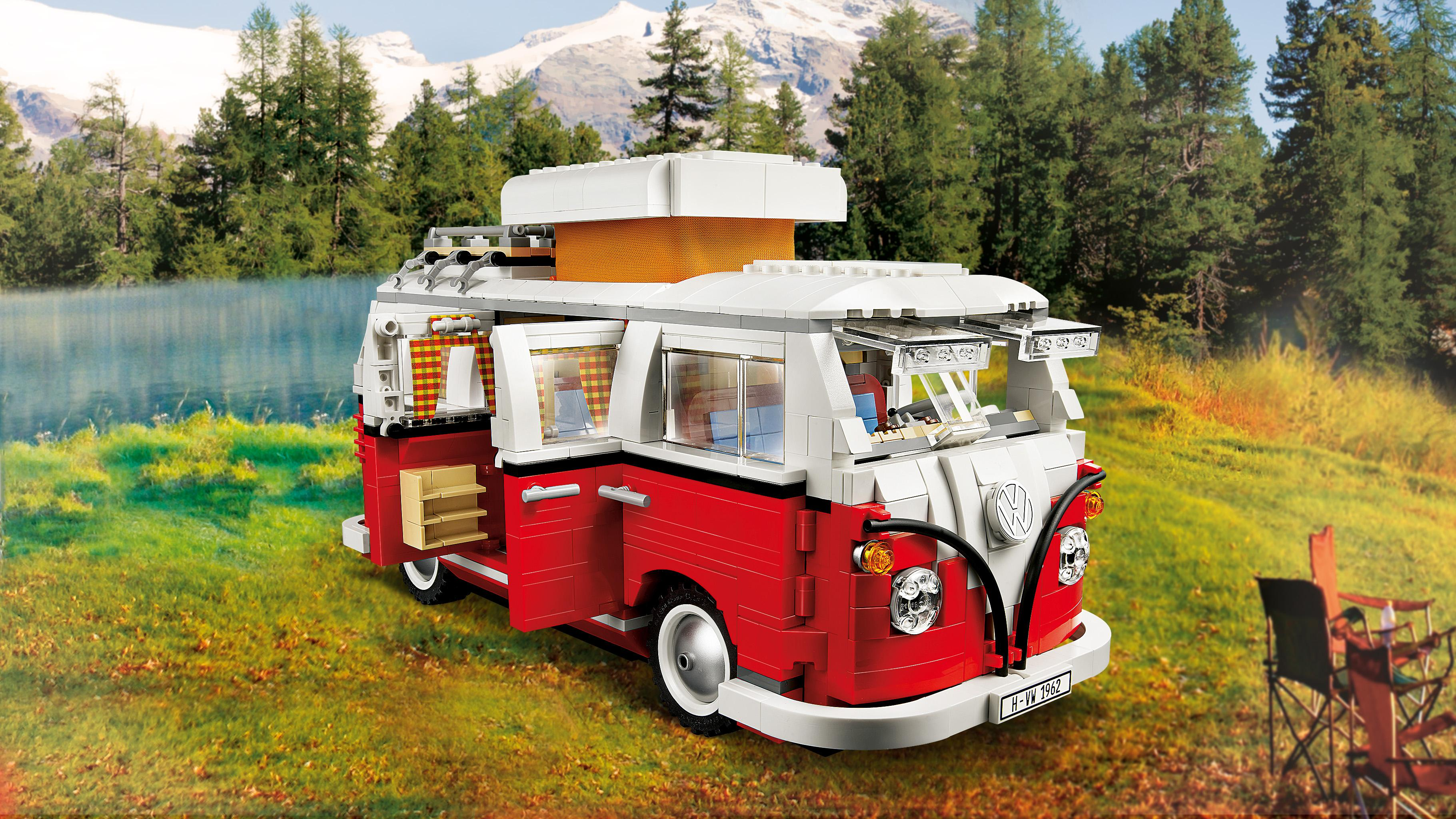 lego creator volkswagen t1 camper van 10220 ebay. Black Bedroom Furniture Sets. Home Design Ideas