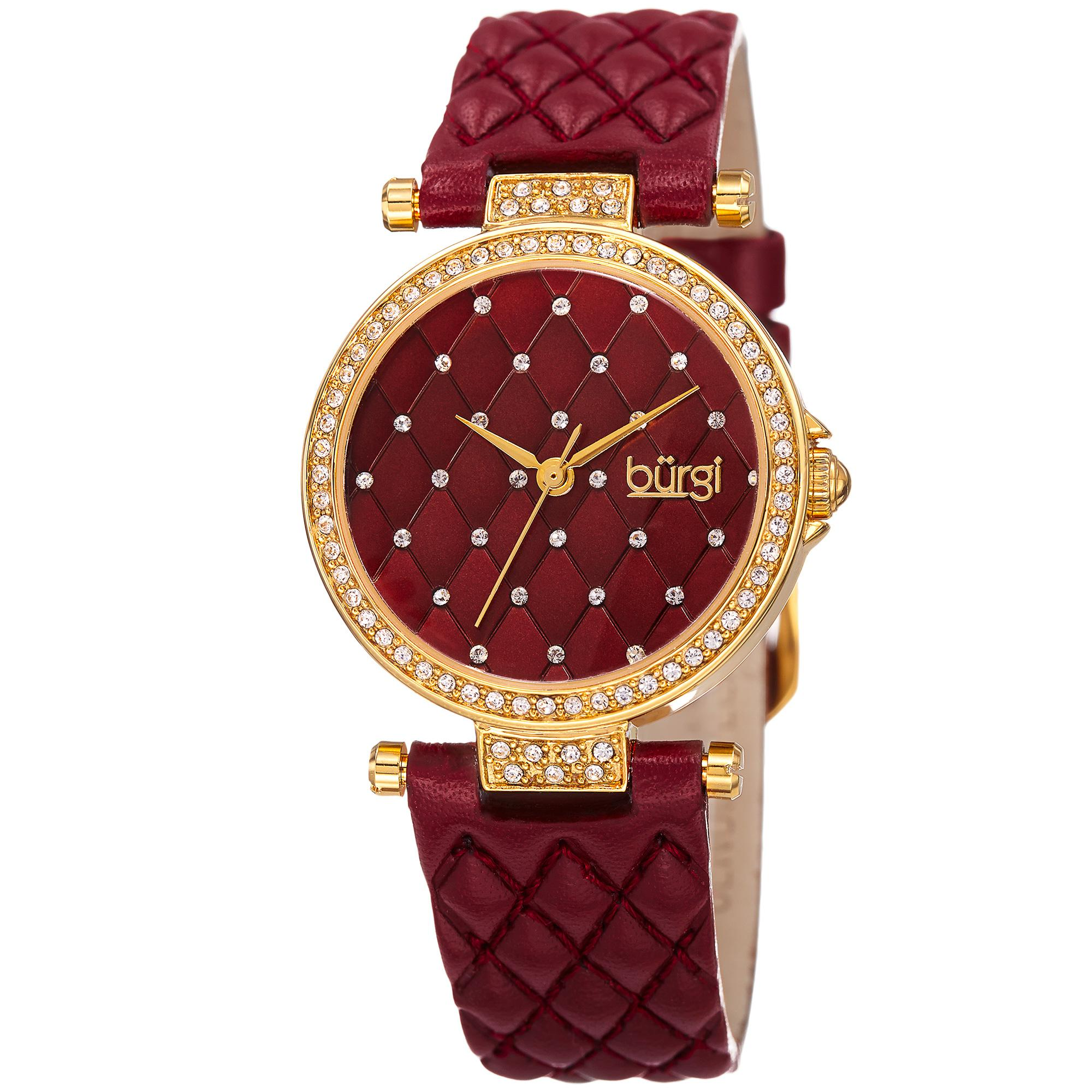 pi selection leather watches of women collections design silver for red watch aurelia fashionable pilgrim plated