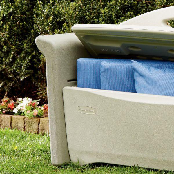 Rubbermaid Outdoor Patio Storage Bench 4 Cu