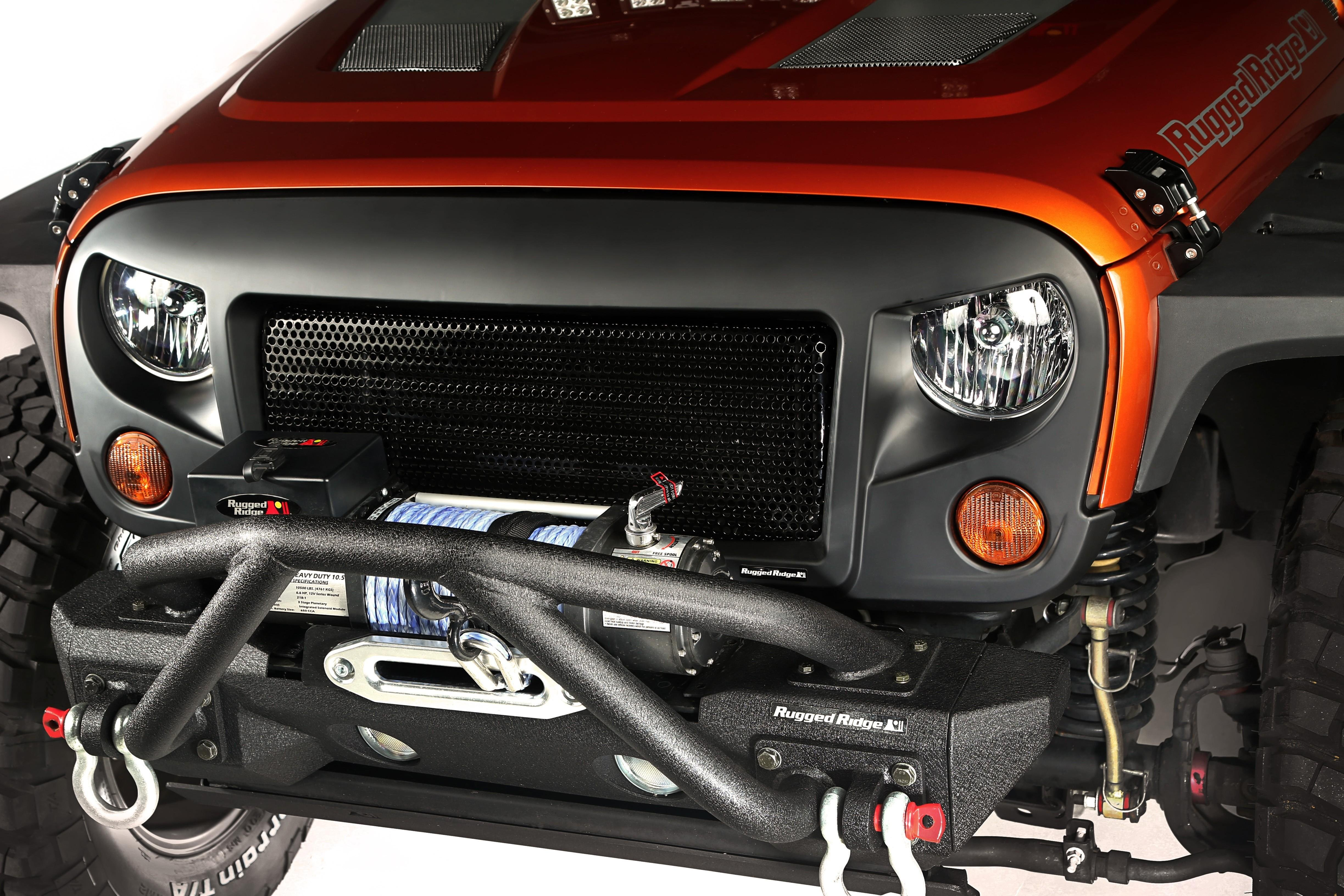 Amazon Com Rugged Ridge 12034 33 Spartan Grille Kit For