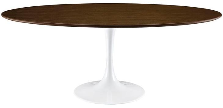 Amazon Com Modway Lippa Wood Dining Table 78 Quot Walnut