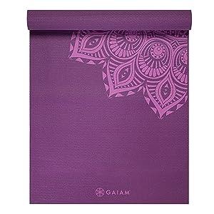 Amazon Com Gaiam Print Premium Yoga Mats 5mm Sports