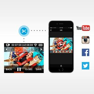 Trim and share video on the go.