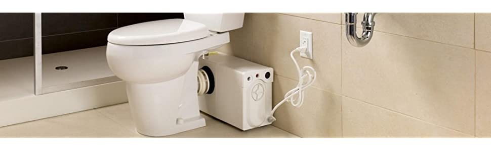 Thetford Bathroom Anywhere Macerating Elongated Toilet Kit 42819 White Includes Toilet And