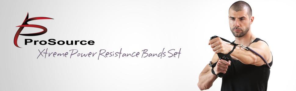 ProSource Extreme Power Resistance Tubes, strength bands, resistance tube set, resistance tube kit