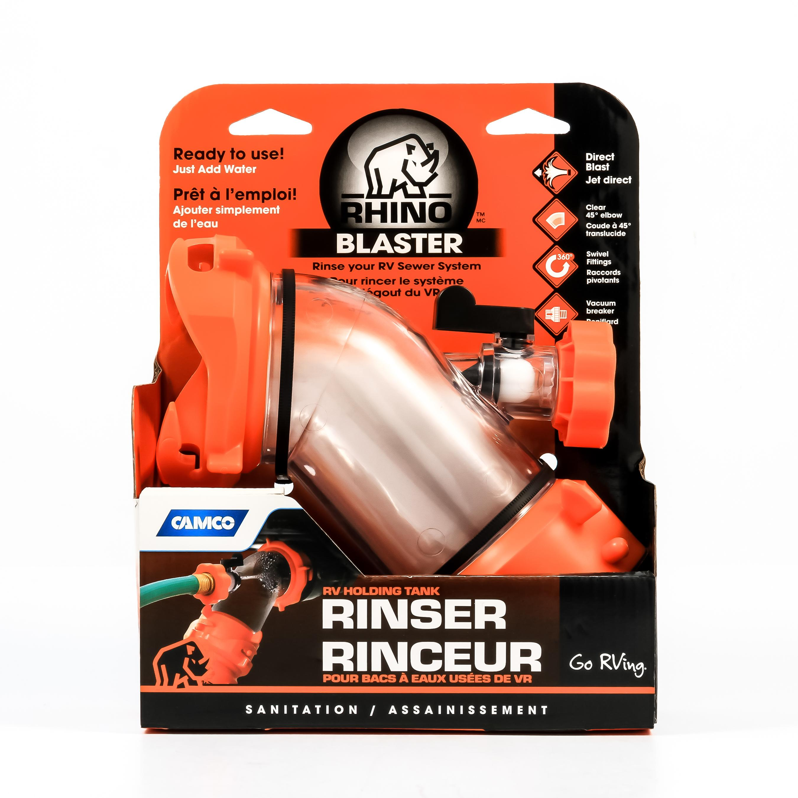 Amazon.com: Camco Rhino Blaster Sewer Tank Rinser