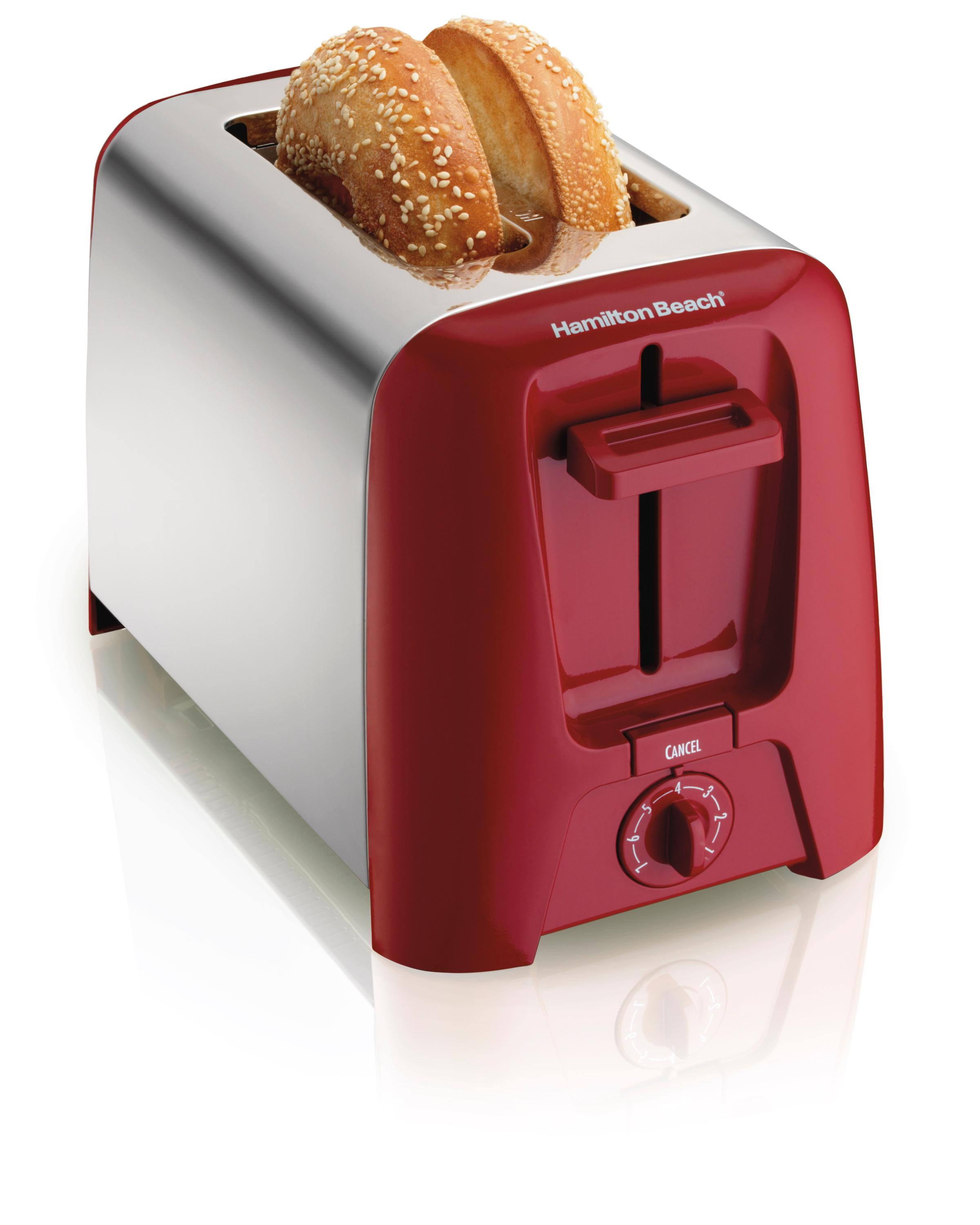 Hamilton Beach Cool Wall 2 Slice Toaster Red Auto Shut Off Chrome Exterior Ebay