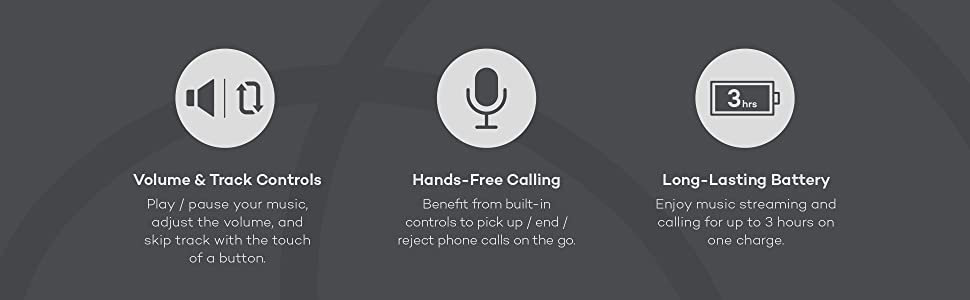 Hands-free calling phone call Built-in Microphone Long battery life
