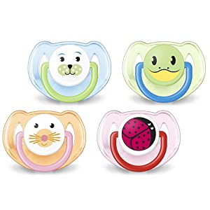 Philips Avent Classic Pacifier, Soother Animal 6-18 Month