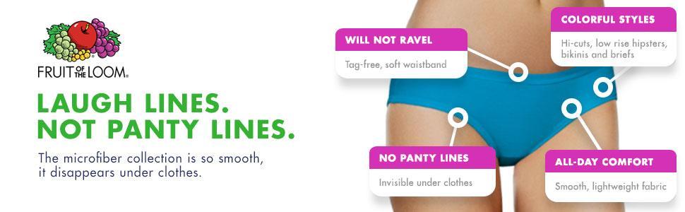 Fruit of the Loom Women's 6 Pack Microfiber Brief Panties