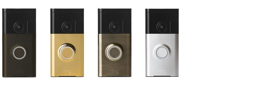 Amazon Ring Wi Fi Enabled Video Doorbell in Satin Nickel