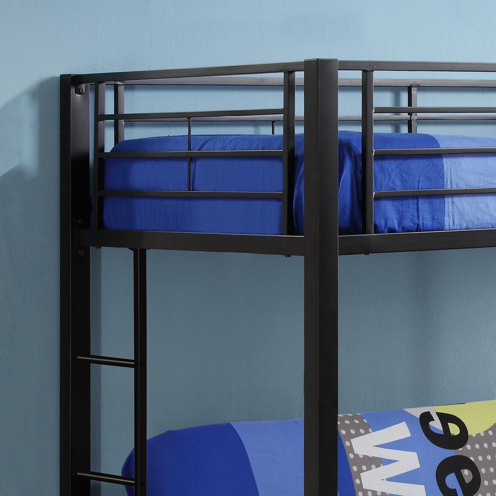 walker edison twin over futon metal bunk bed white kitchen dining. Black Bedroom Furniture Sets. Home Design Ideas
