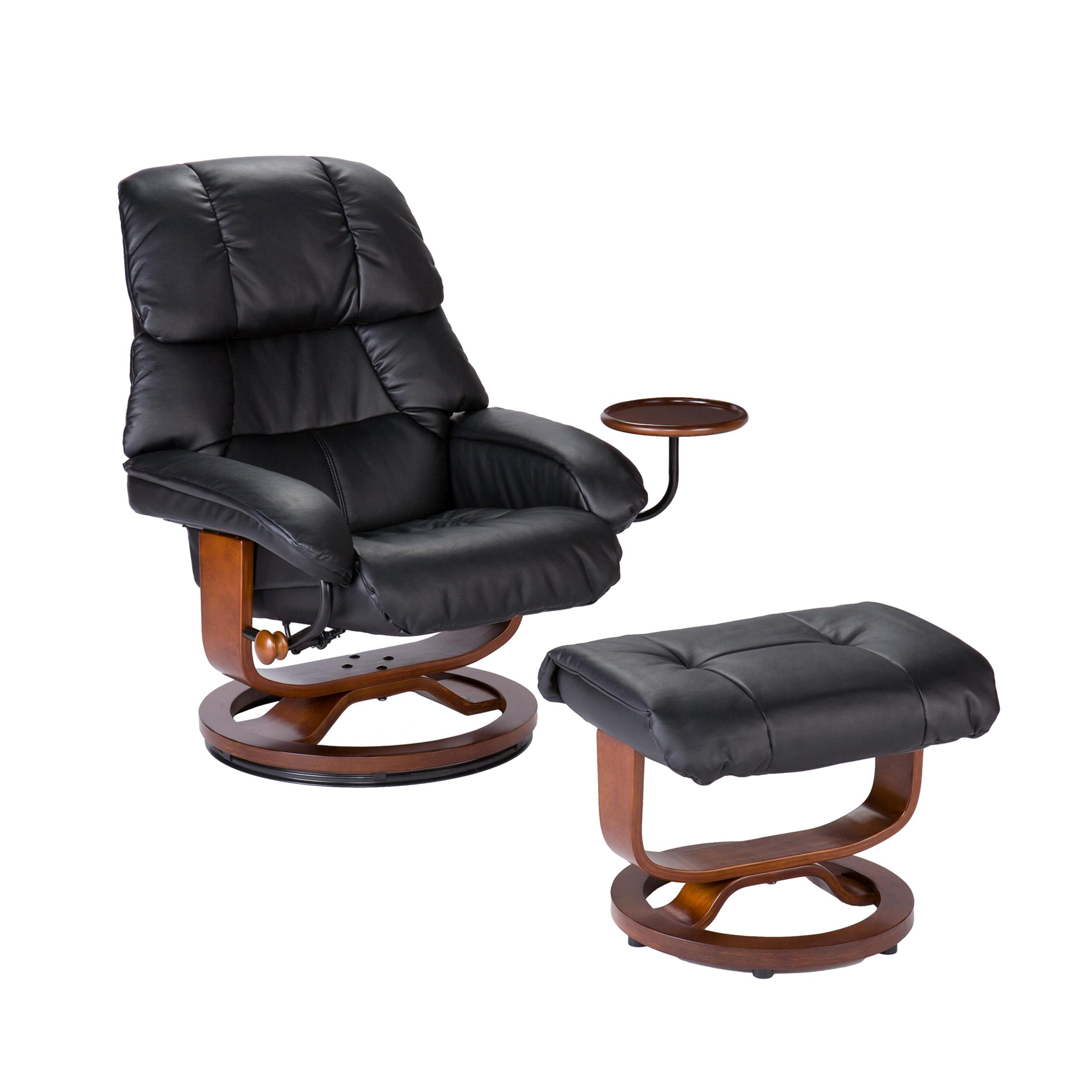 View larger  sc 1 st  Amazon.com & Amazon.com: Bonded Leather Recliner and Ottoman - Black: Kitchen ... islam-shia.org