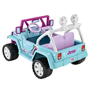 Amazon Com Power Wheels Disney Frozen Jeep Wrangler Toys