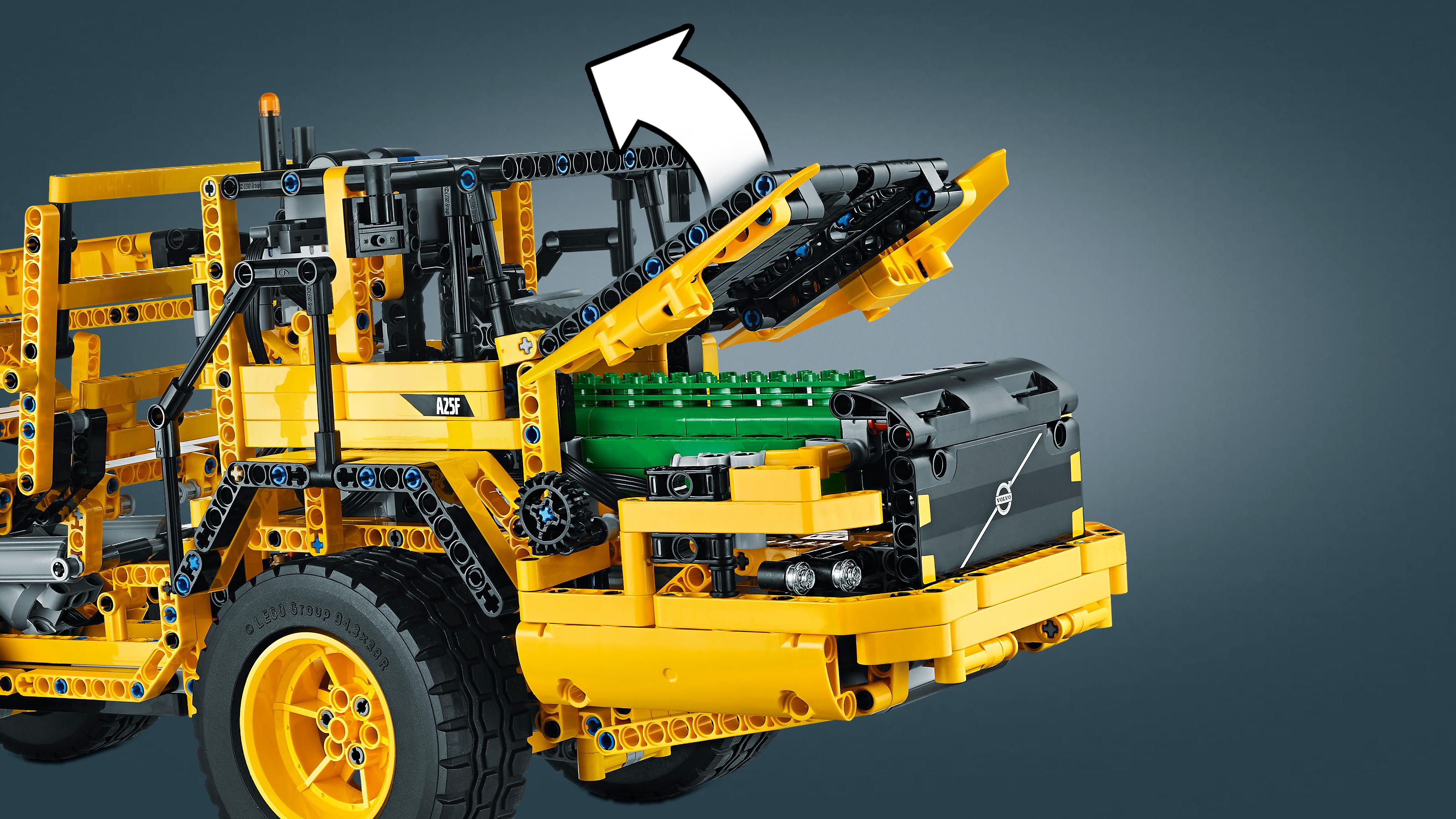 lego technic 42030 remote controlled volvo l350f wheel load toys games