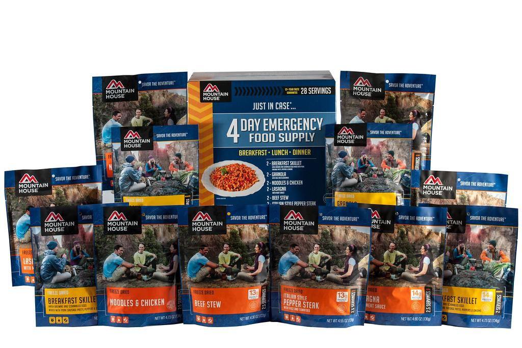 Dried Foods For Emergency Preparedness: Amazon.com : Mountain House 4 Day Emergency Food Supply