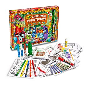 Crayola Christmas Countdown Activity Advent Calendar - Daily Activities