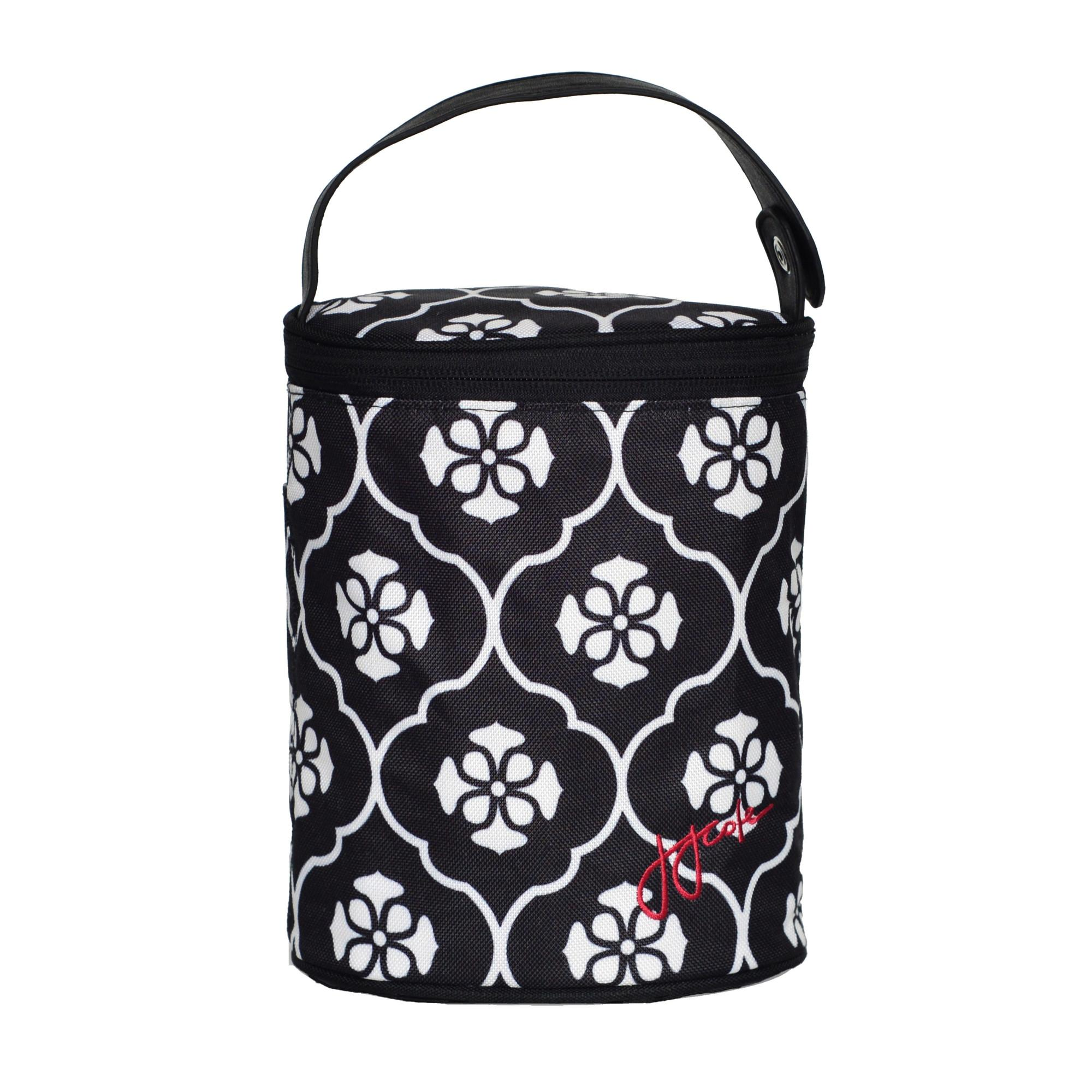 jj cole parker diaper bag black floret baby. Black Bedroom Furniture Sets. Home Design Ideas