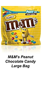 Be prepared for the party with large chocolate bags of their favorite M&M'S Peanut Candy.