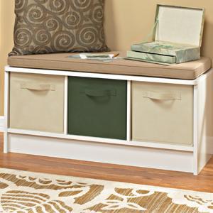 Cubeicals, Storage Bench, 3 Cube, Organization Bench, Closetmaid, Fabric  Bins