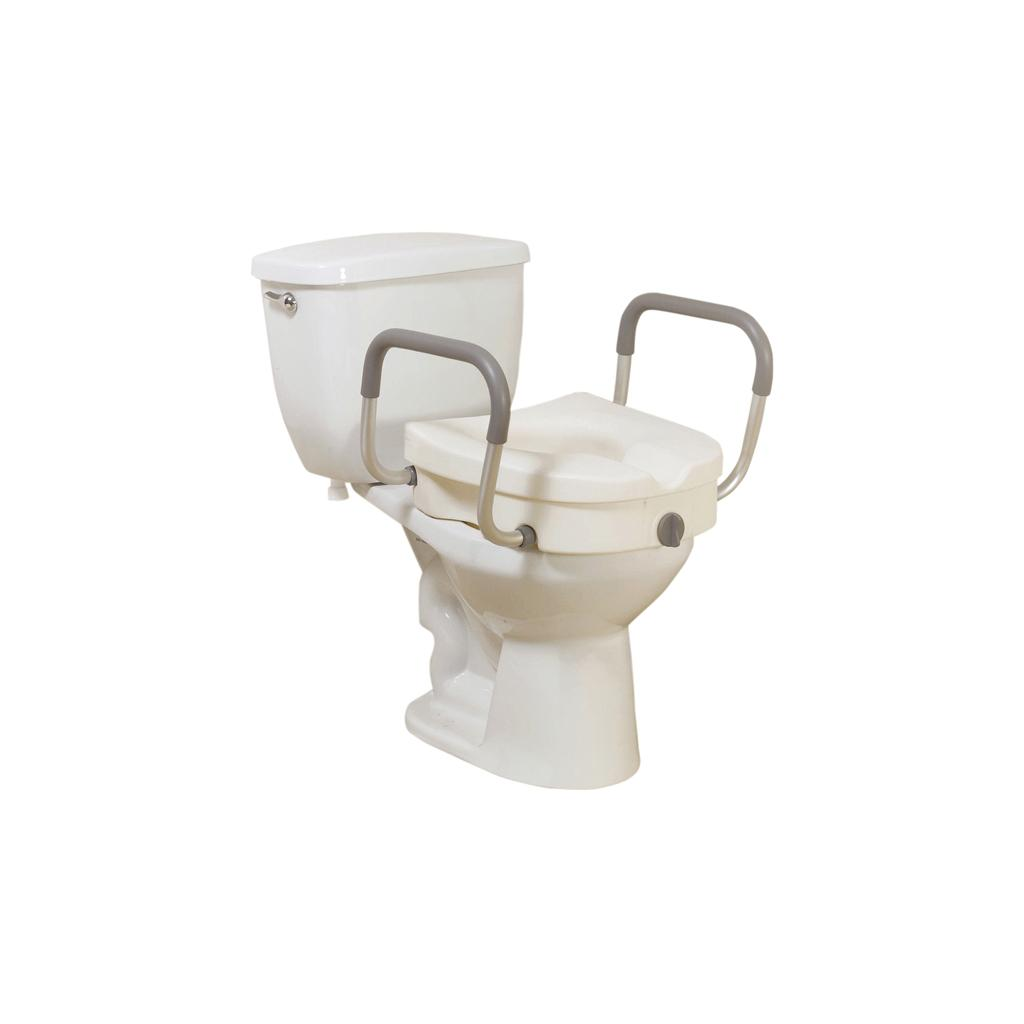 Brilliant Drive Medical Raised Toilet Seat With Removable Padded Arms Standard Seat Pdpeps Interior Chair Design Pdpepsorg